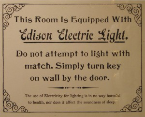 Edison Electric warning sign